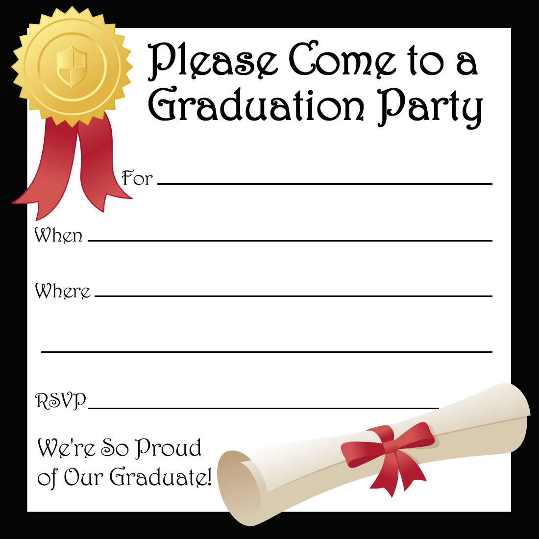 Free Printable Graduation Party Invitations | High School Graduation - Free Printable Graduation Party Invitations