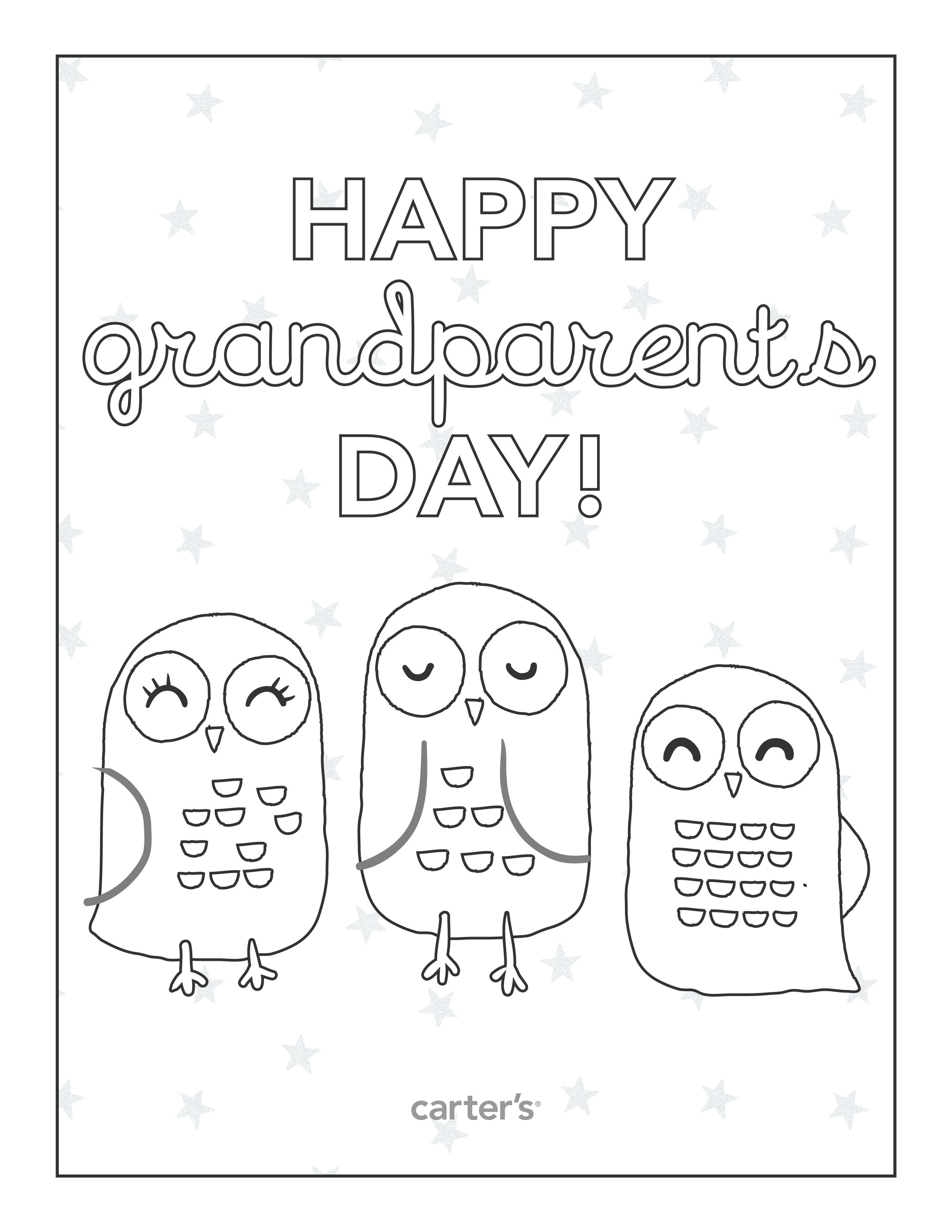 Free Printable Grandparents Day Coloring Pages From Carter's - Free Printable Fathers Day Coloring Pages For Grandpa