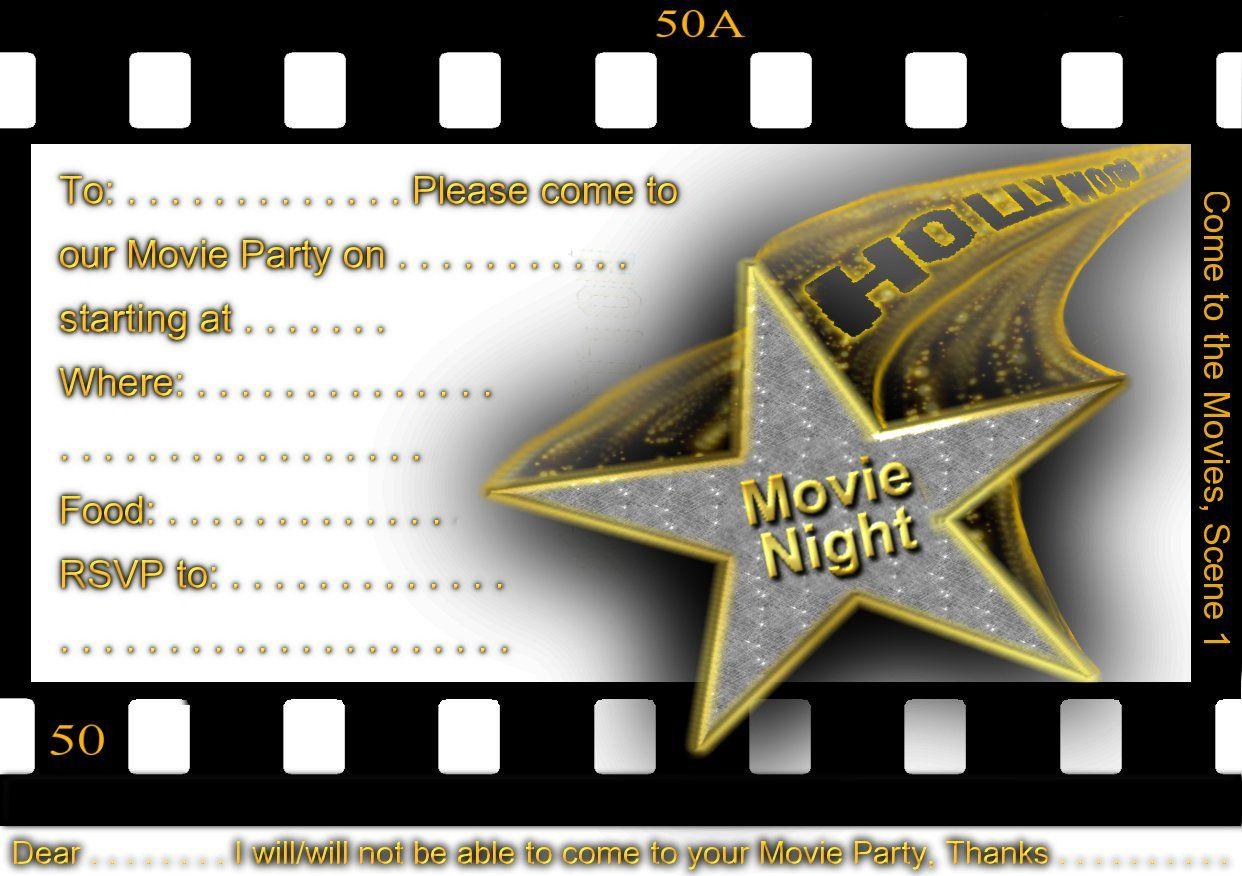 Free Printable Gratuation Movie Themed Invitations | Printable Movie - Free Printable Movie Themed Invitations