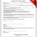 Free Printable Guardian Of Minor Children, Conditional | Sample   Free Printable Legal Guardianship Forms