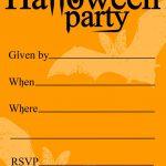 Free Printable Halloween Birthday Invitations Templates | Halloween   Free Printable Halloween Party Decorations