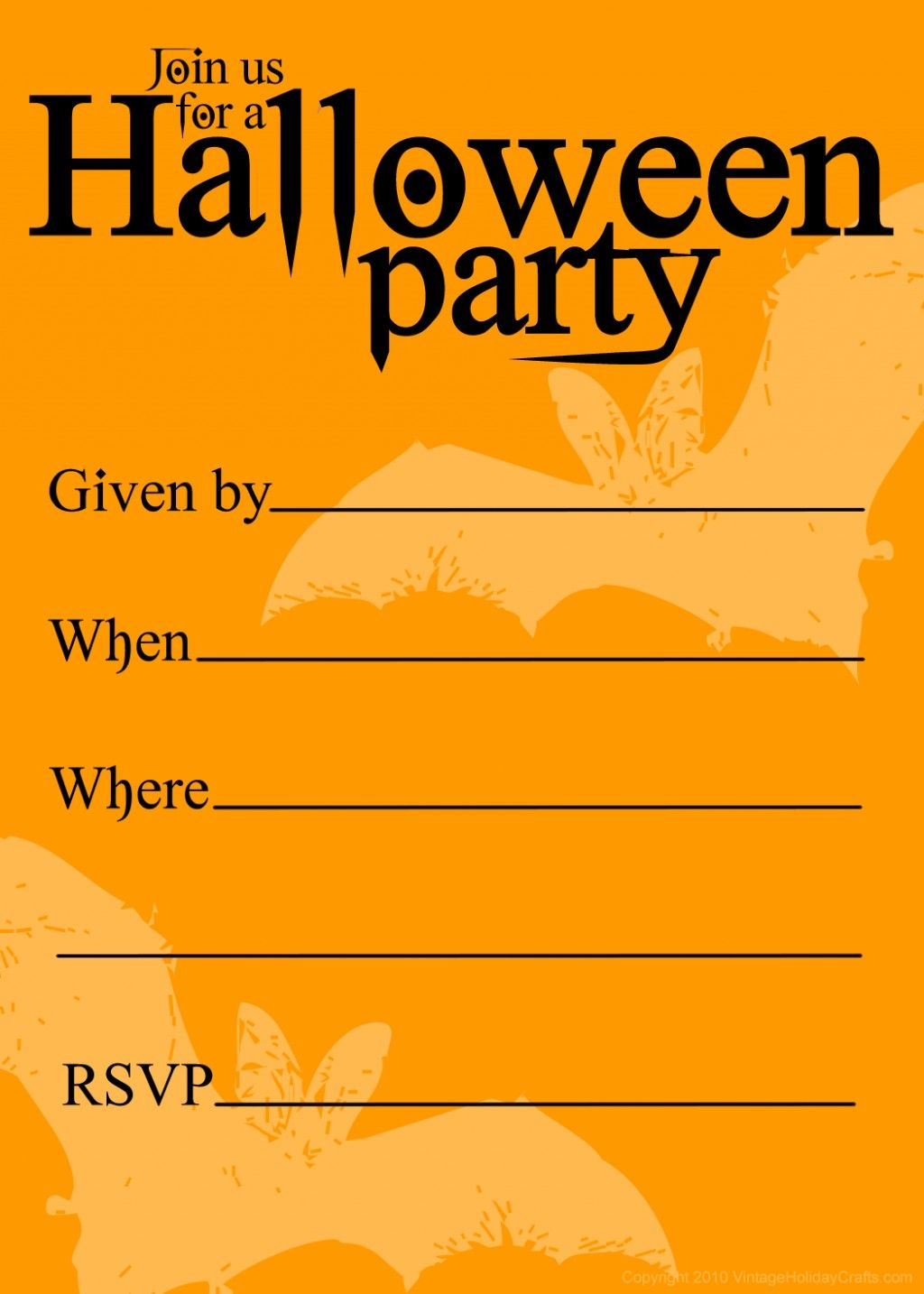 Free Printable Halloween Birthday Invitations Templates | Halloween - Free Printable Halloween Party Decorations