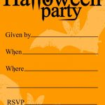 Free Printable Halloween Birthday Invitations Templates | Halloween   Halloween Party Invitation Templates Free Printable