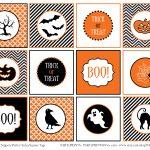 Free Printable Halloween Circle Tags | Halloween Arts   Free Printable Halloween Tags