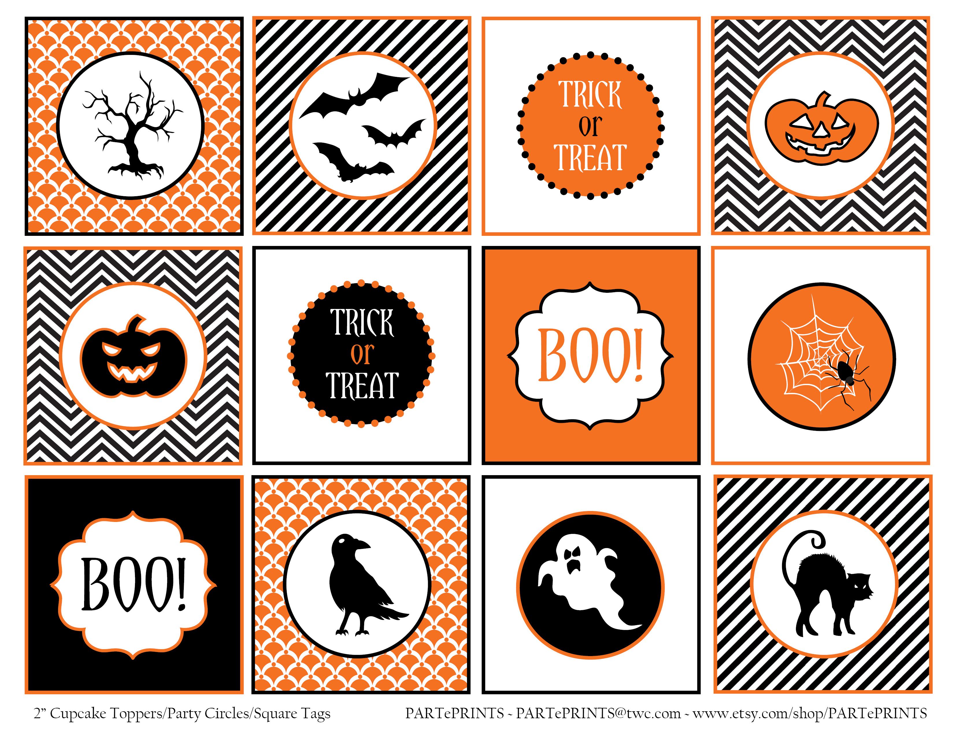 Free Printable Halloween Circle Tags | Halloween Arts - Free Printable Halloween Tags