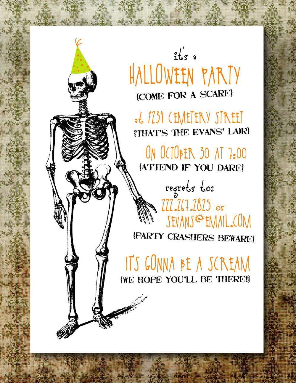 Free Printable Halloween Invitation Templates | Free Printable - Halloween Party Invitation Templates Free Printable