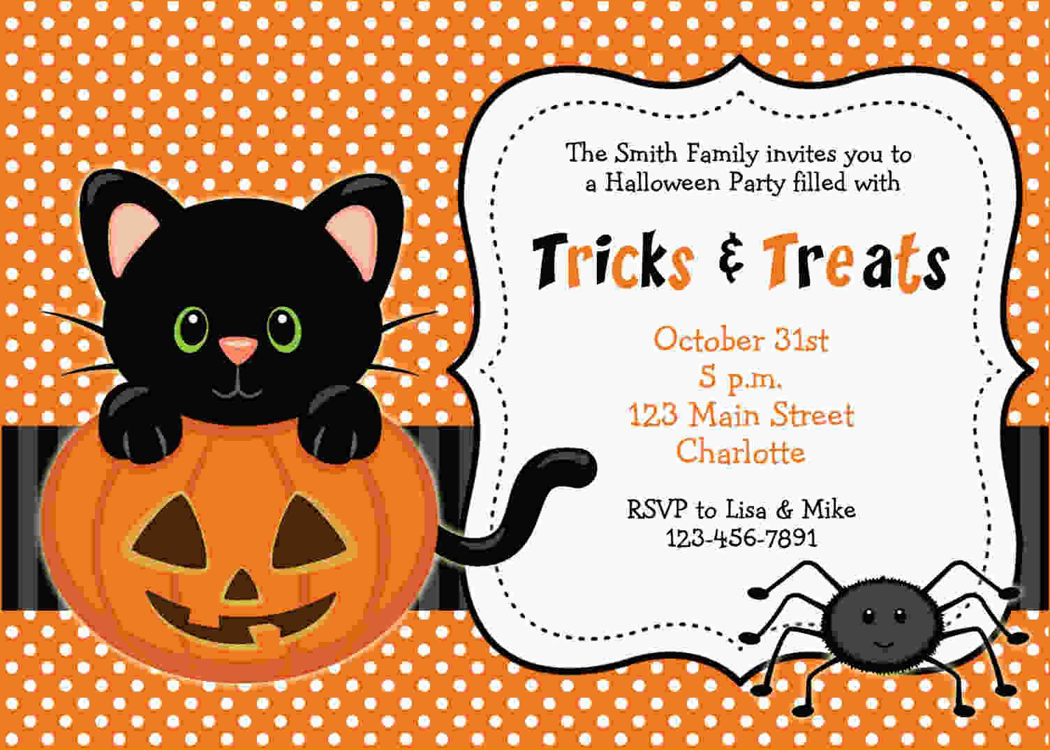 Free Printable Halloween Invitations | Free Printable Birthday - Free Printable Halloween Birthday Party Invitations