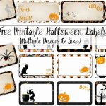Free Printable Halloween Labels: Multiple Sizes, Multiple Designs   Free Printable Halloween Labels
