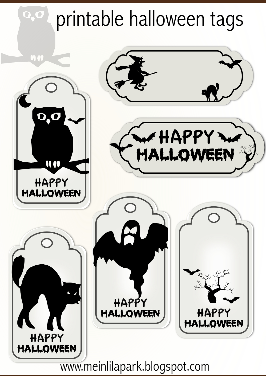 Free Printable Halloween Tags - Druckvorlage Halloween - Freebie - Free Printable Halloween Labels