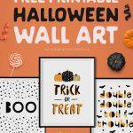 Free Printable Halloween Wall Art  Modern Prints For Your Halloween   Free Printable Halloween Party Decorations