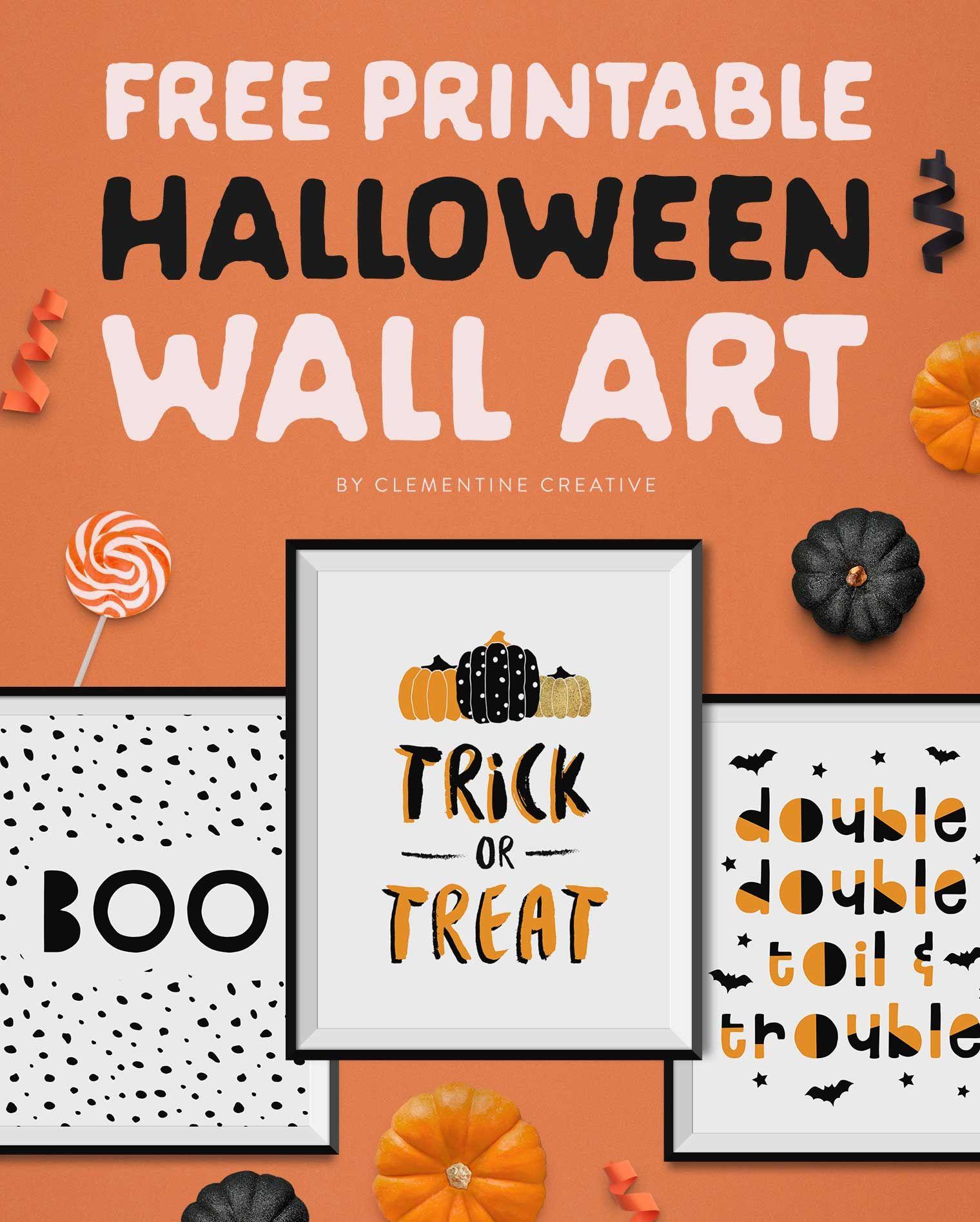 Free Printable Halloween Wall Art -Modern Prints For Your Halloween - Free Printable Halloween Party Decorations