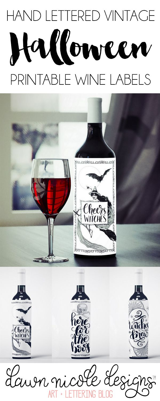 Free Printable Halloween Wine Bottle Labels | Ultimate Diy Board - Free Printable Wine Labels With Photo