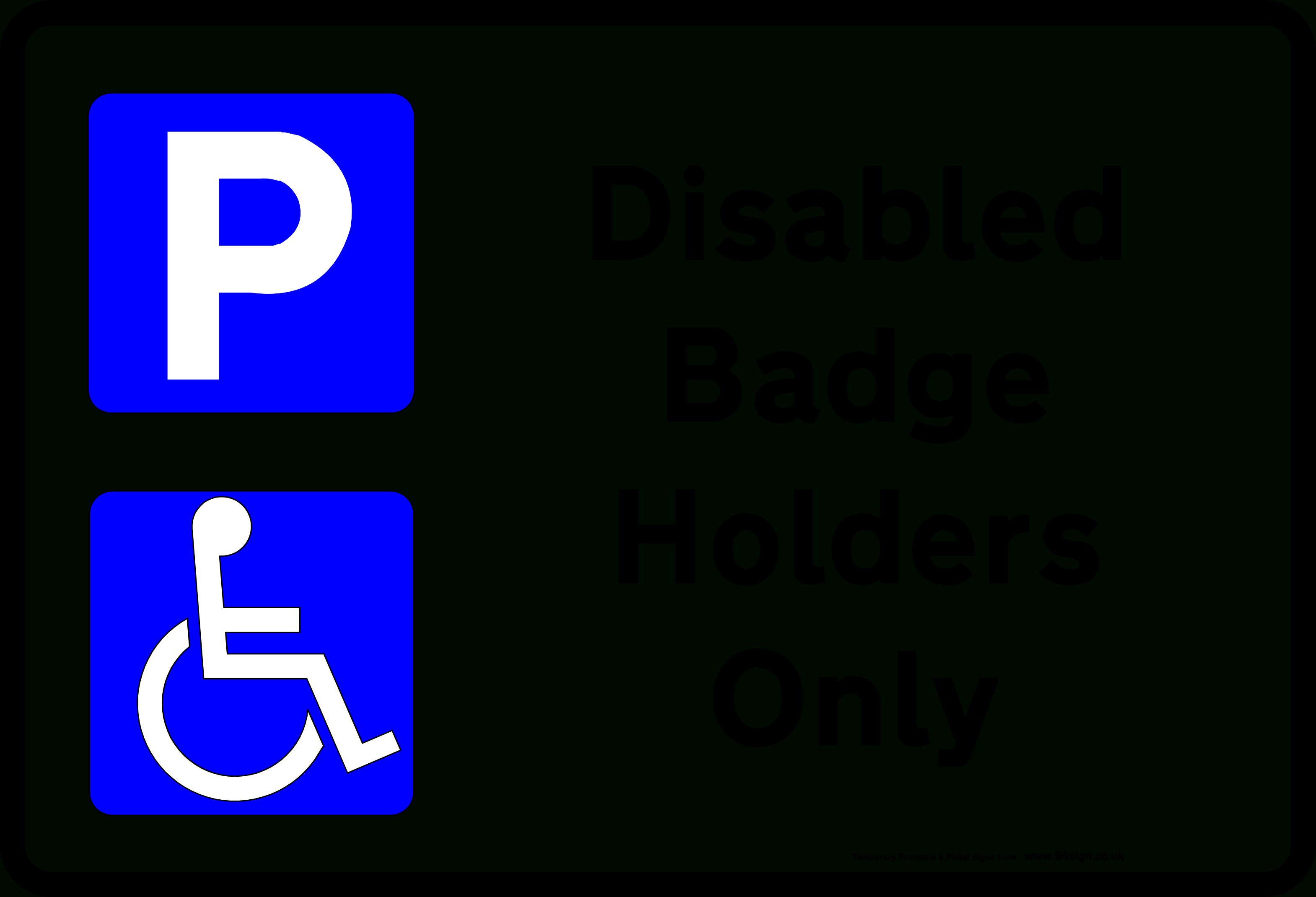 Free Printable Handicap Parking Signs, Download Free Clip Art, Free - Free Printable No Restroom Signs