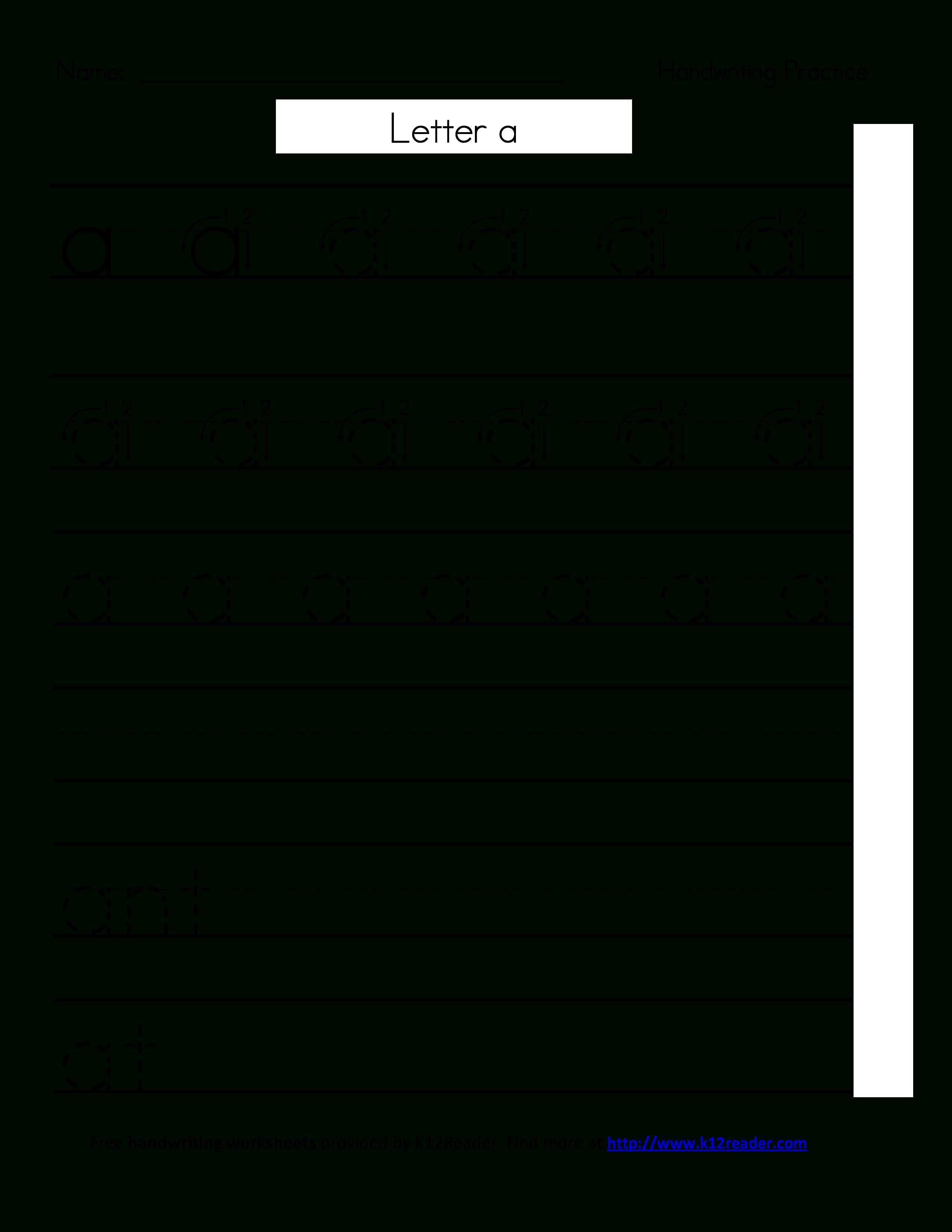 Free Printable Handwriting Worksheets   Templates At - Free Printable Handwriting Worksheets