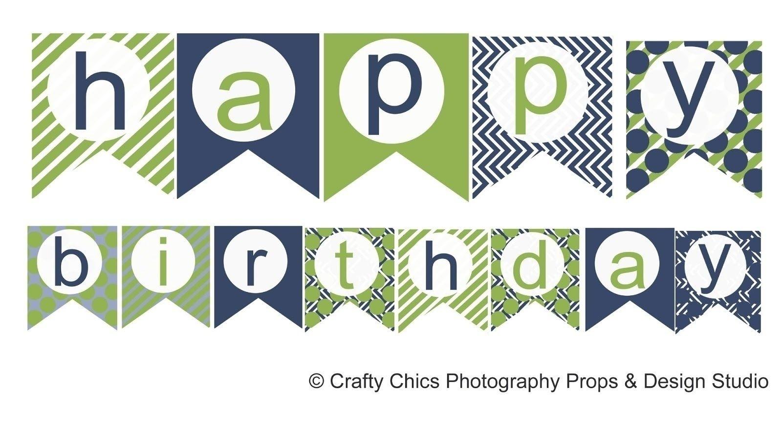 Free Printable Happy Birthday Banner Templates | Bestprintable231118 - Free Printable Happy Birthday Banner