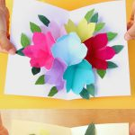 Free Printable Happy Birthday Card With Pop Up Bouquet   A Piece Of   Free Printable Pop Up Card Templates