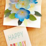 Free Printable Happy Birthday Card With Pop Up Bouquet | Flower   Free Printable Pop Up Birthday Card Templates