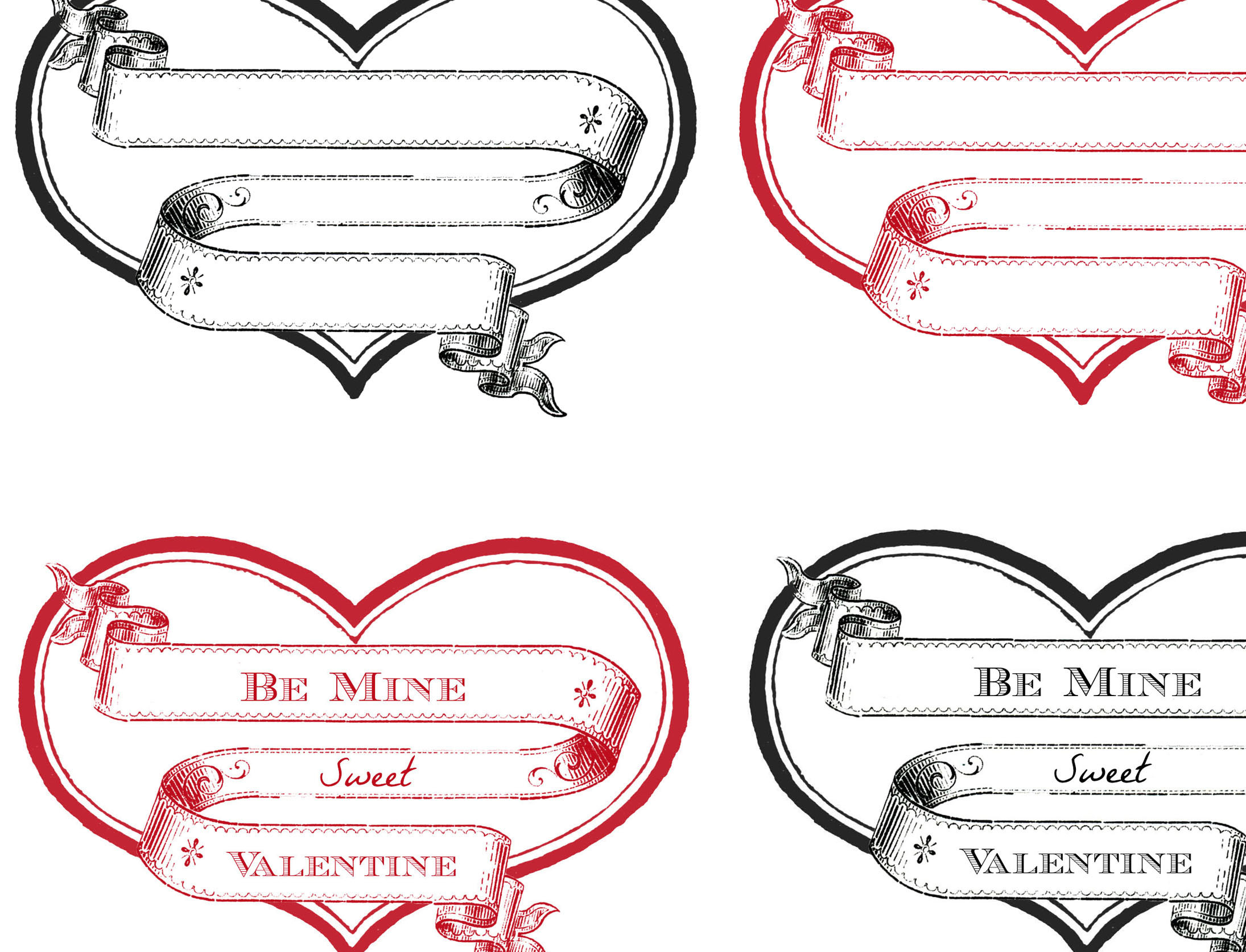 Free Printable Heart Labels - The Graphics Fairy - Free Printable Heart Labels