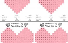 Free Printable Valentine Word Search For Adults
