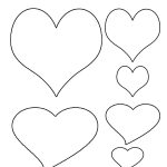 Free Printable Heart Template | Cupid Has A Heart On | Pinterest   Free Printable Heart Templates