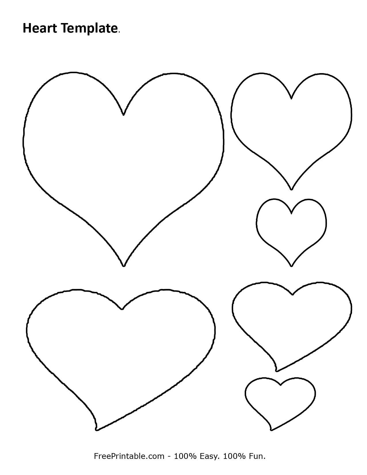 Free Printable Heart Template | Cupid Has A Heart On | Pinterest - Free Printable Heart Templates