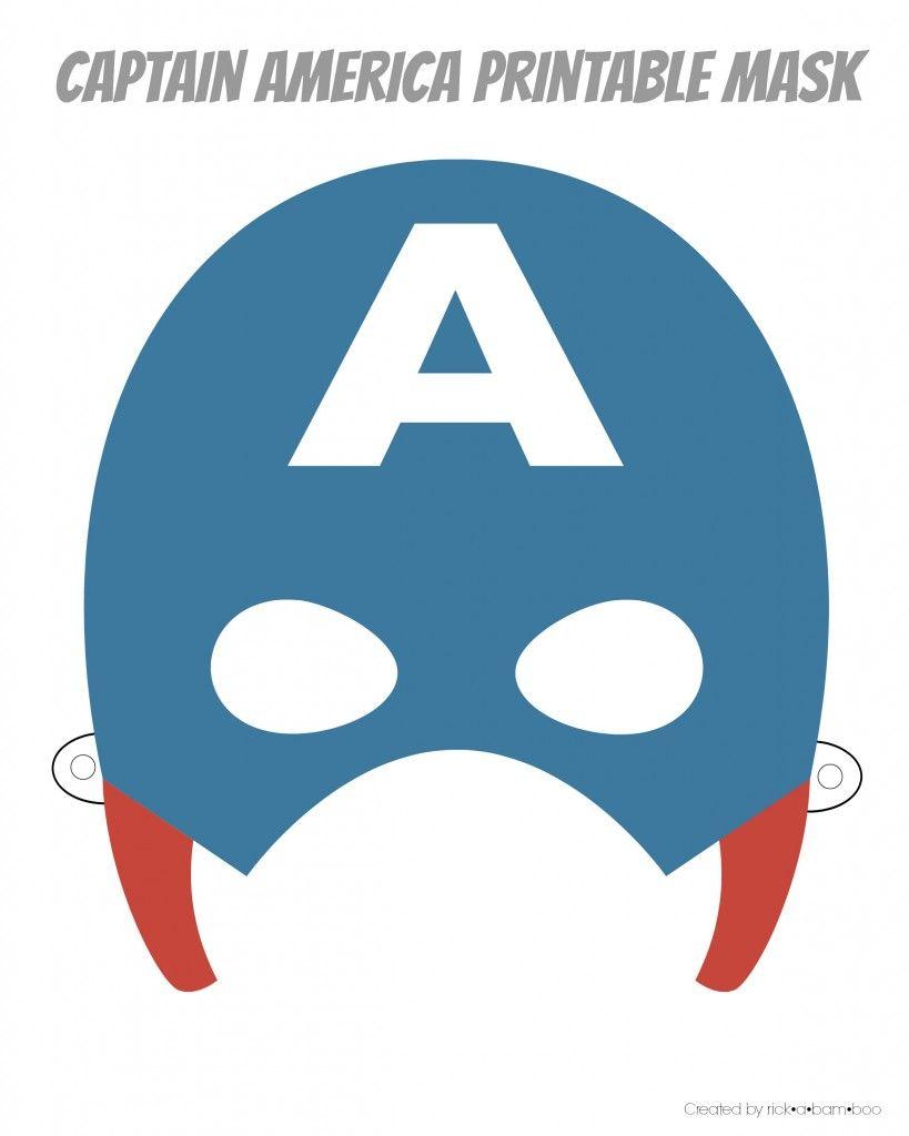 Free Printable Hero Masks   Captain Amerika   Pinterest   Superhero - Free Printable Superhero Masks