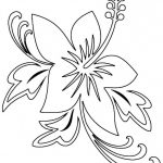 Free Printable Hibiscus Coloring Pages For Kids | Embroidery   Free Printable Hibiscus Coloring Pages