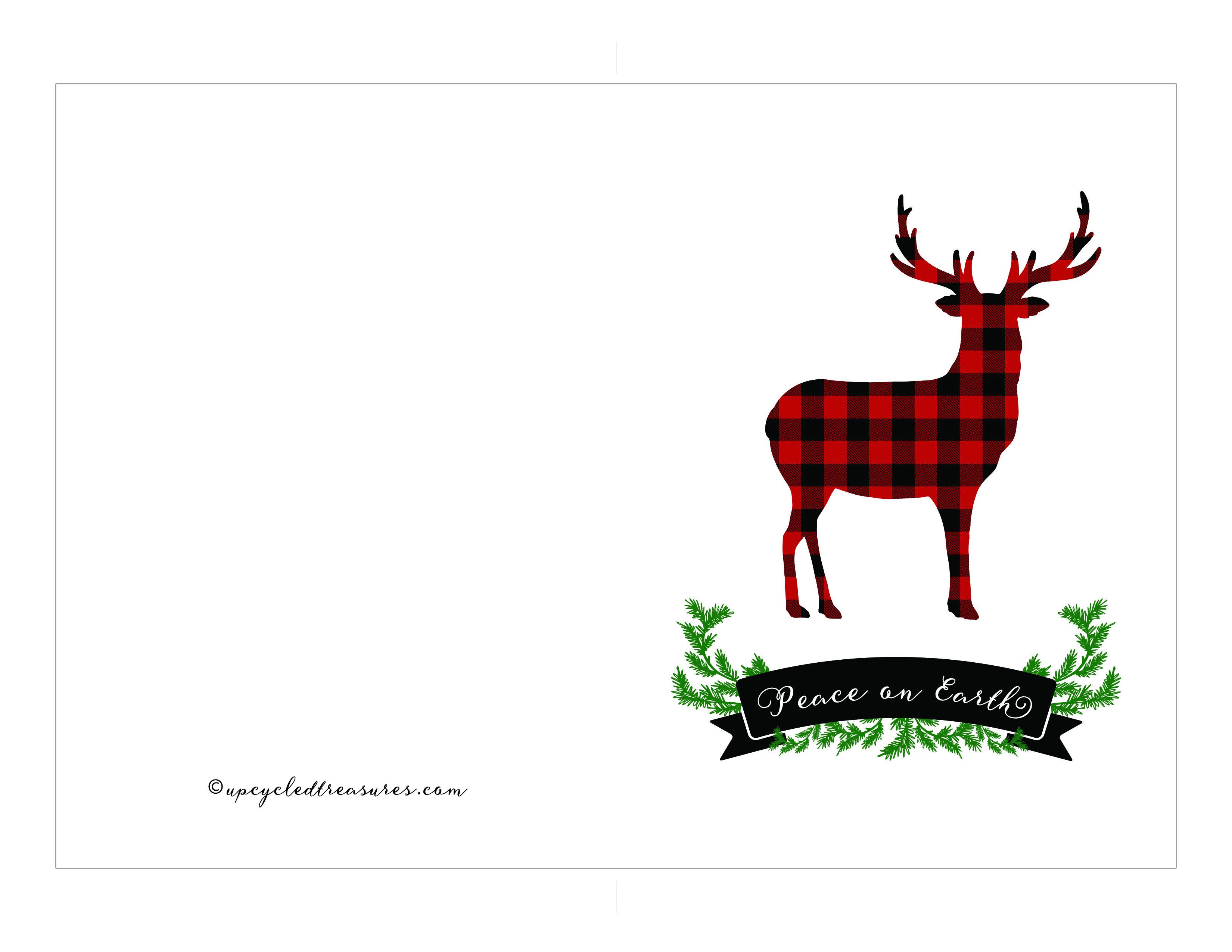 Free Printable Holiday Cards | Mountain Modern Life - Free Printable Photo Christmas Cards
