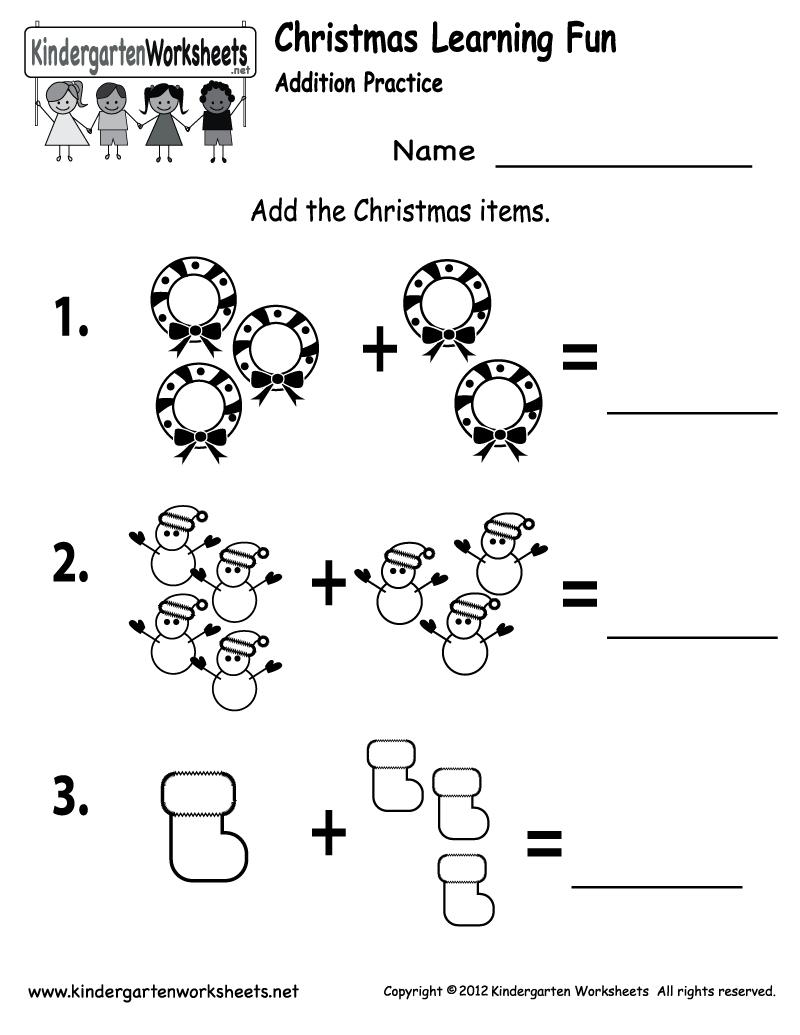 Free Printable Holiday Worksheets | Free Printable Kindergarten - Free Printable Christmas Worksheets