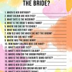 Free Printable 'how Well Do You Know The Bride?' Hen Party & Bridal   Free Printable Bachelorette Party Games