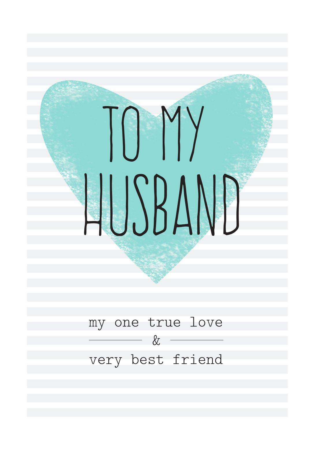 Free Printable Husband Greeting Card   Diy   Free Birthday Card - Free Printable Birthday Cards For Husband