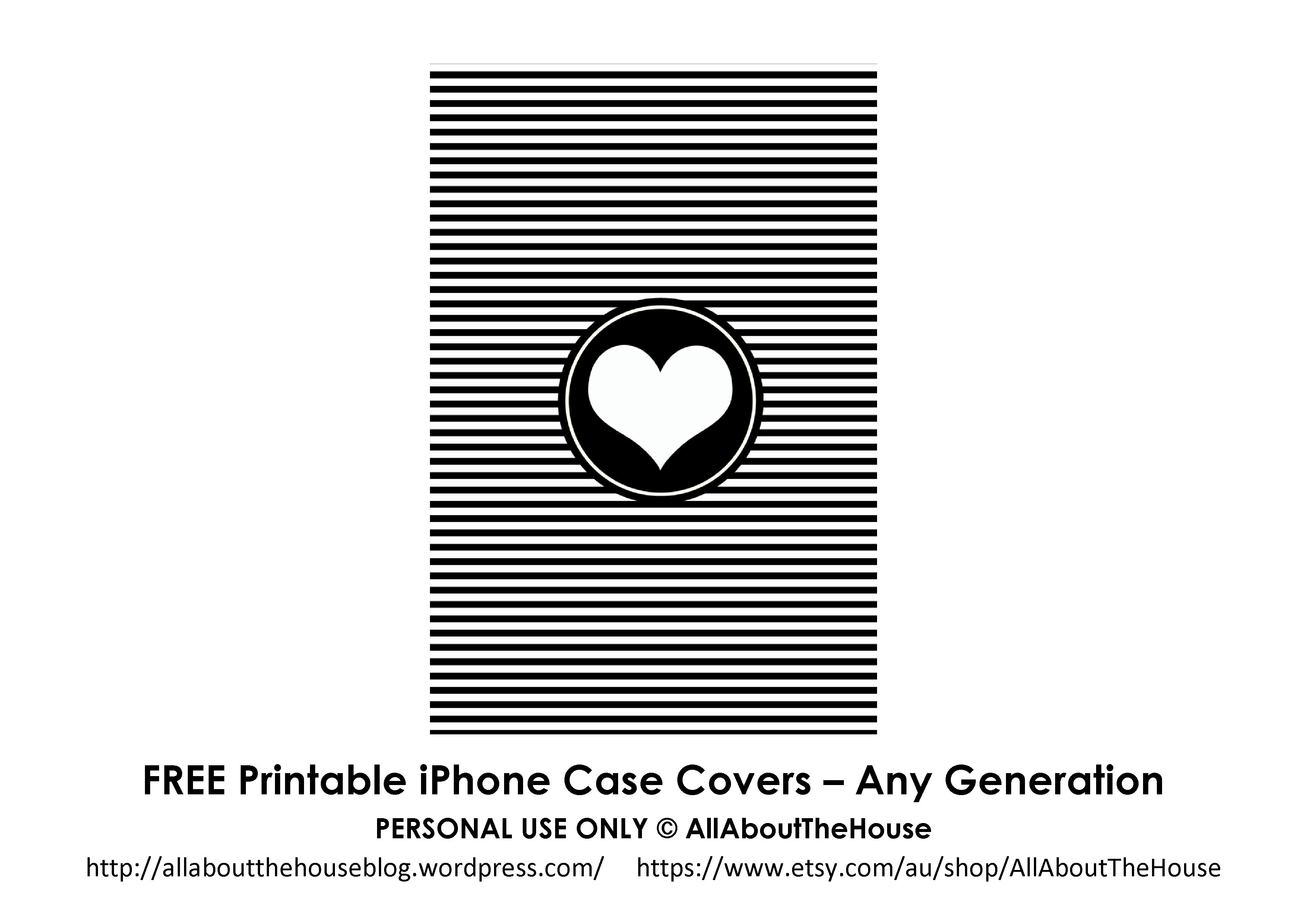 Free Printable Iphone Case Covers - All About Planners - Free Printable Iphone Skins