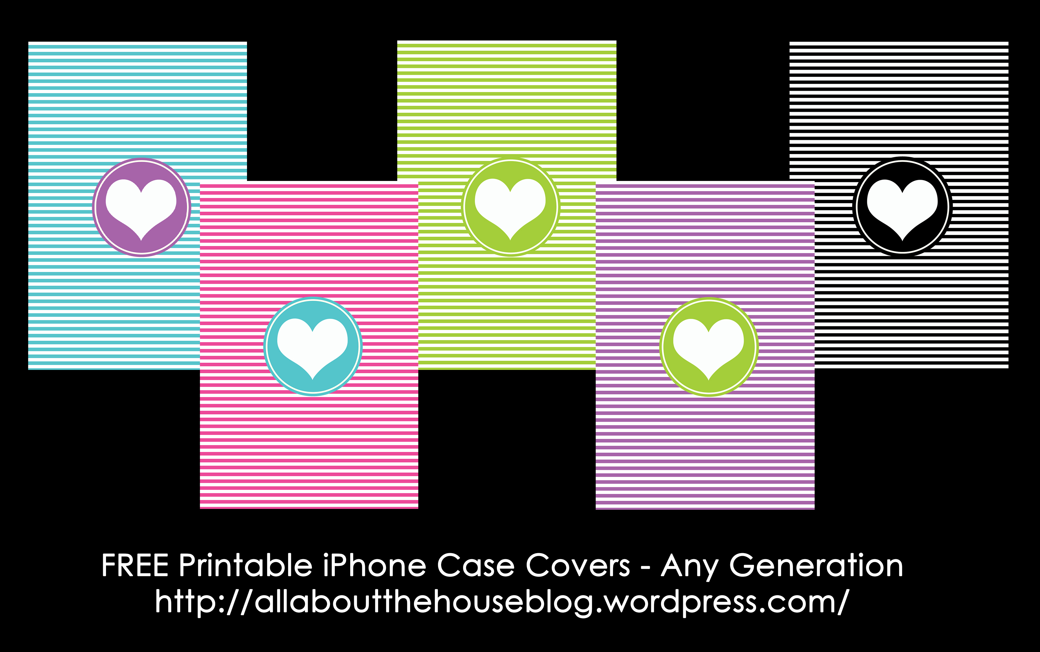 Free Printable Iphone Case Covers - All About Planners - Free Printable Monogram Binder Covers