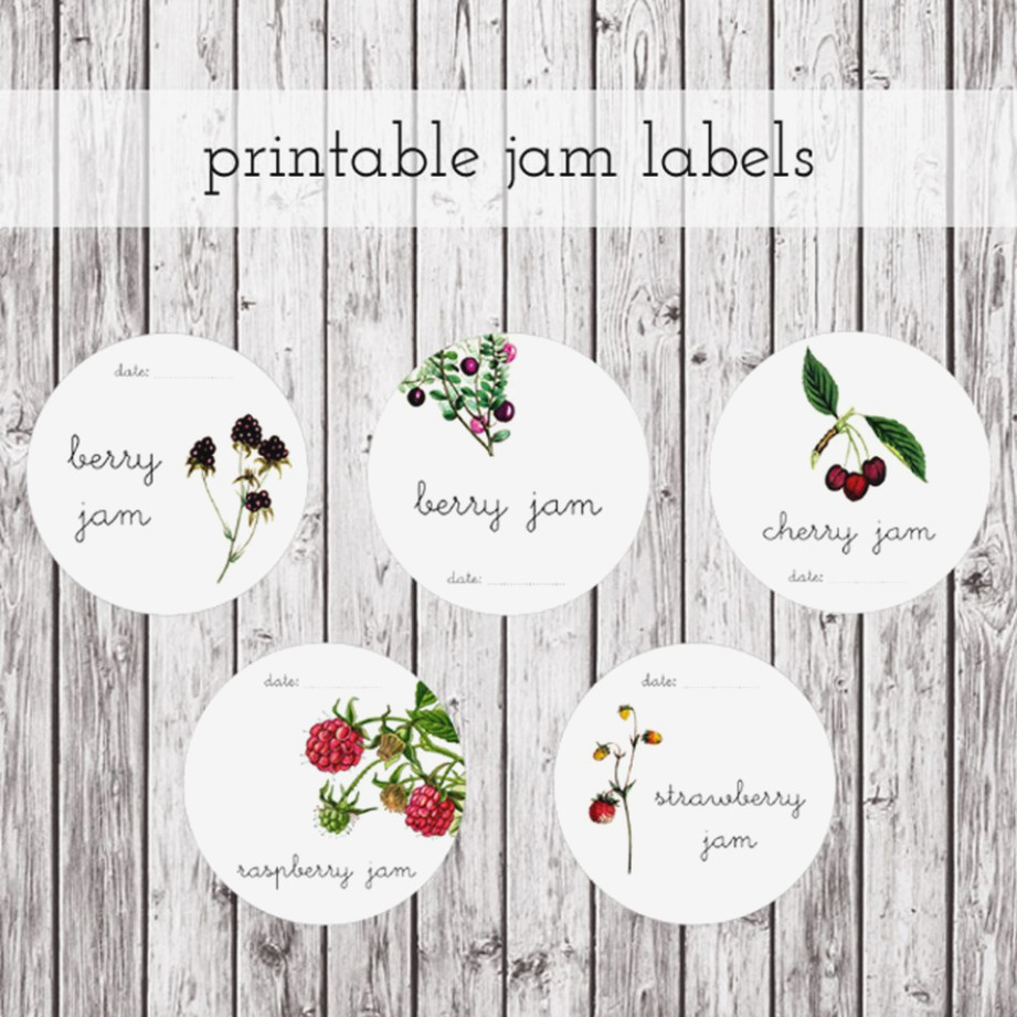 Free Printable Jam Labels The Graphics Fairy. Mason Jar Label - Free Printable Jam Labels