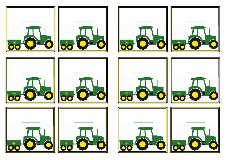 Free Printable John Deer Tractor Themed Name Tags | Themed Name Tags - Free Printable John Deere Food Labels