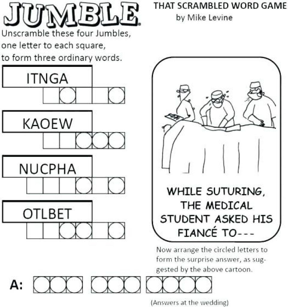 Free Printable Jumbles   Free Printable - Free Printable Jumbles