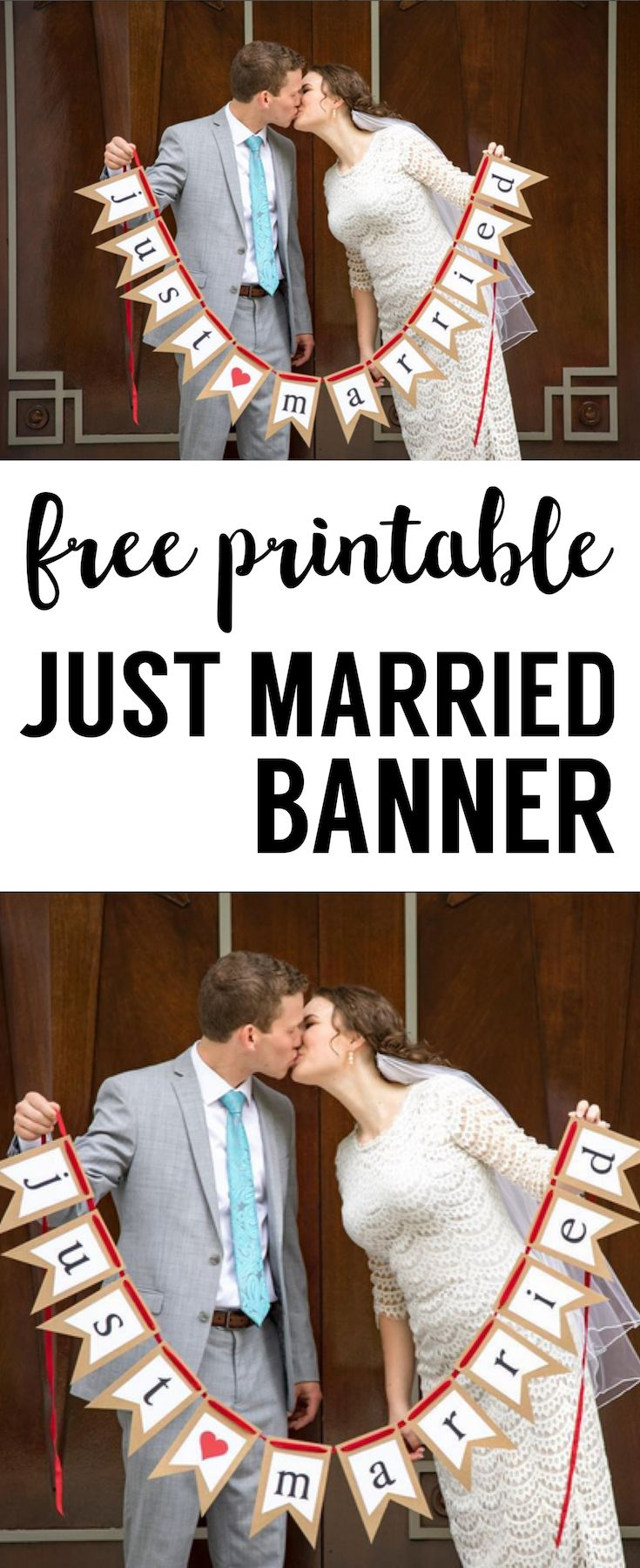 Free Printable Just Married Banner | Wedding Stuff | Casamiento - Just Married Free Printable