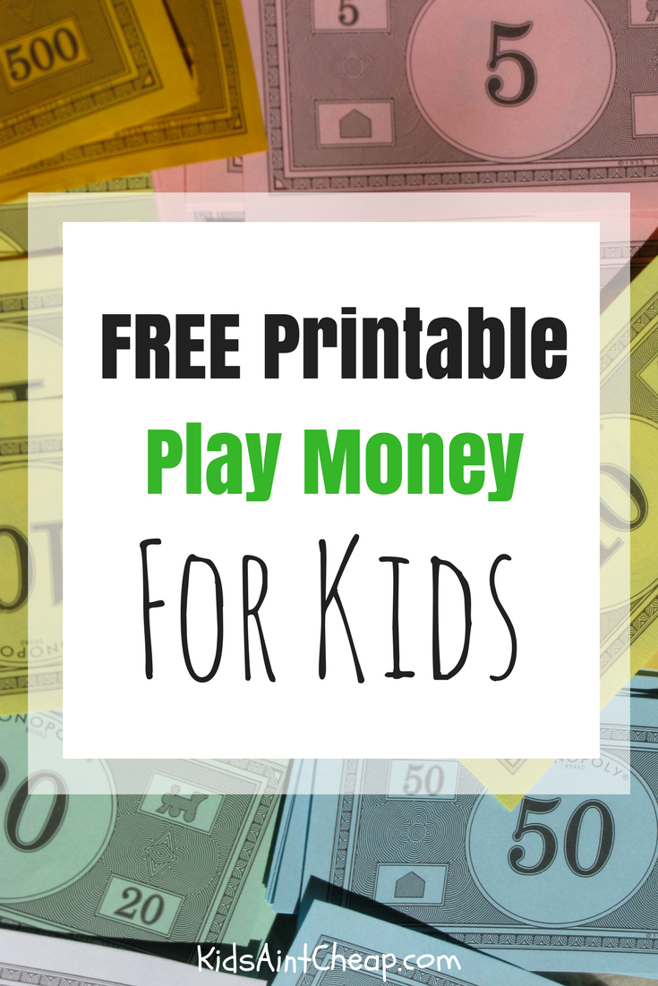 Free Printable Kids Money For Download | Kids Ain't Cheap - Free Printable Money
