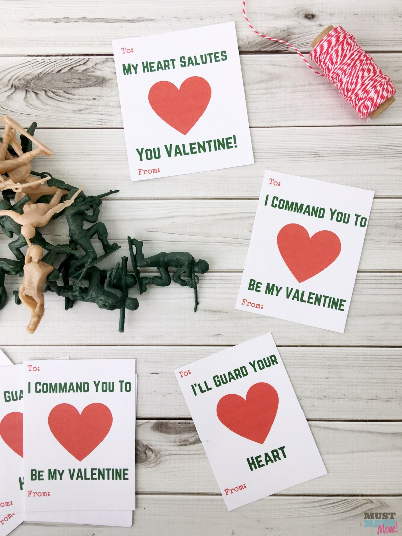 Free Printable Kids Valentine Cards With Army Guys! - Must Have Mom - Free Printable School Valentines Cards