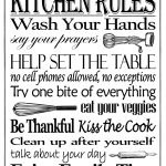 """Free Printable """"kitchen Rules"""" 8"""" X 10"""" Sign   Misc In 2019   Free Wash Your Hands Signs Printable"""