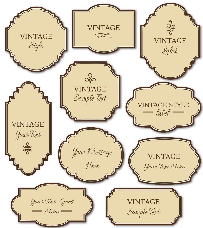 Free Printable Labels Vintage 2018   Corner Of Chart And Menu - Free Printable Vintage Labels