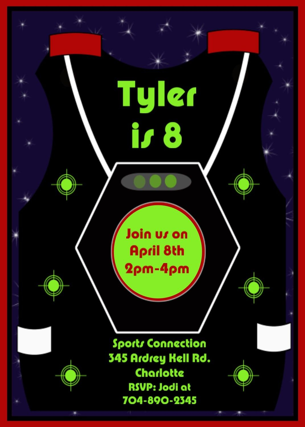 Free Printable Laser Tag Invitations Template | Birthday | Pinterest - Free Printable Laser Tag Invitation Template