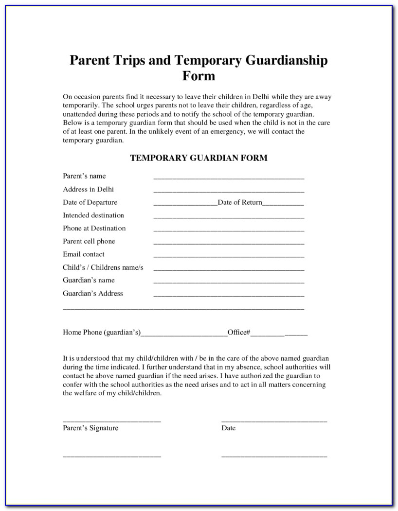 Free Printable Legal Guardianship Forms Florida - Form : Resume - Free Printable Legal Guardianship Forms