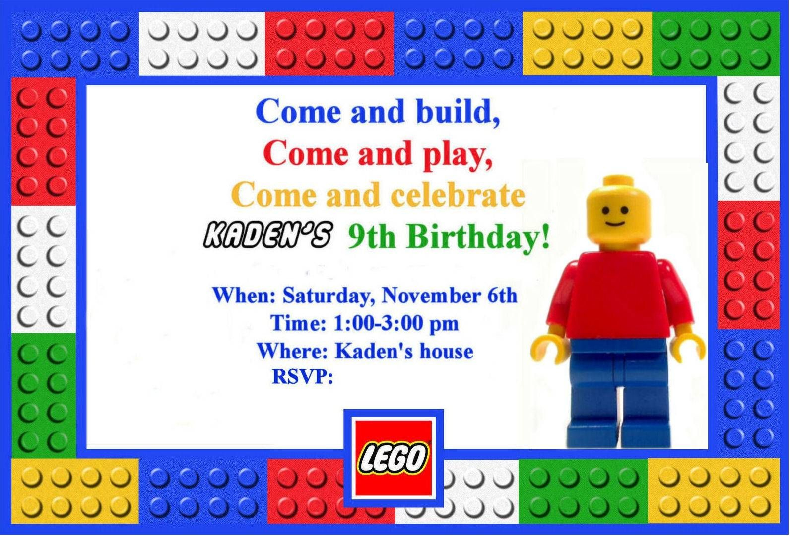 Free Printable Lego Birthday Invitations Boys – Invitetown - Lego Party Invitations Printable Free