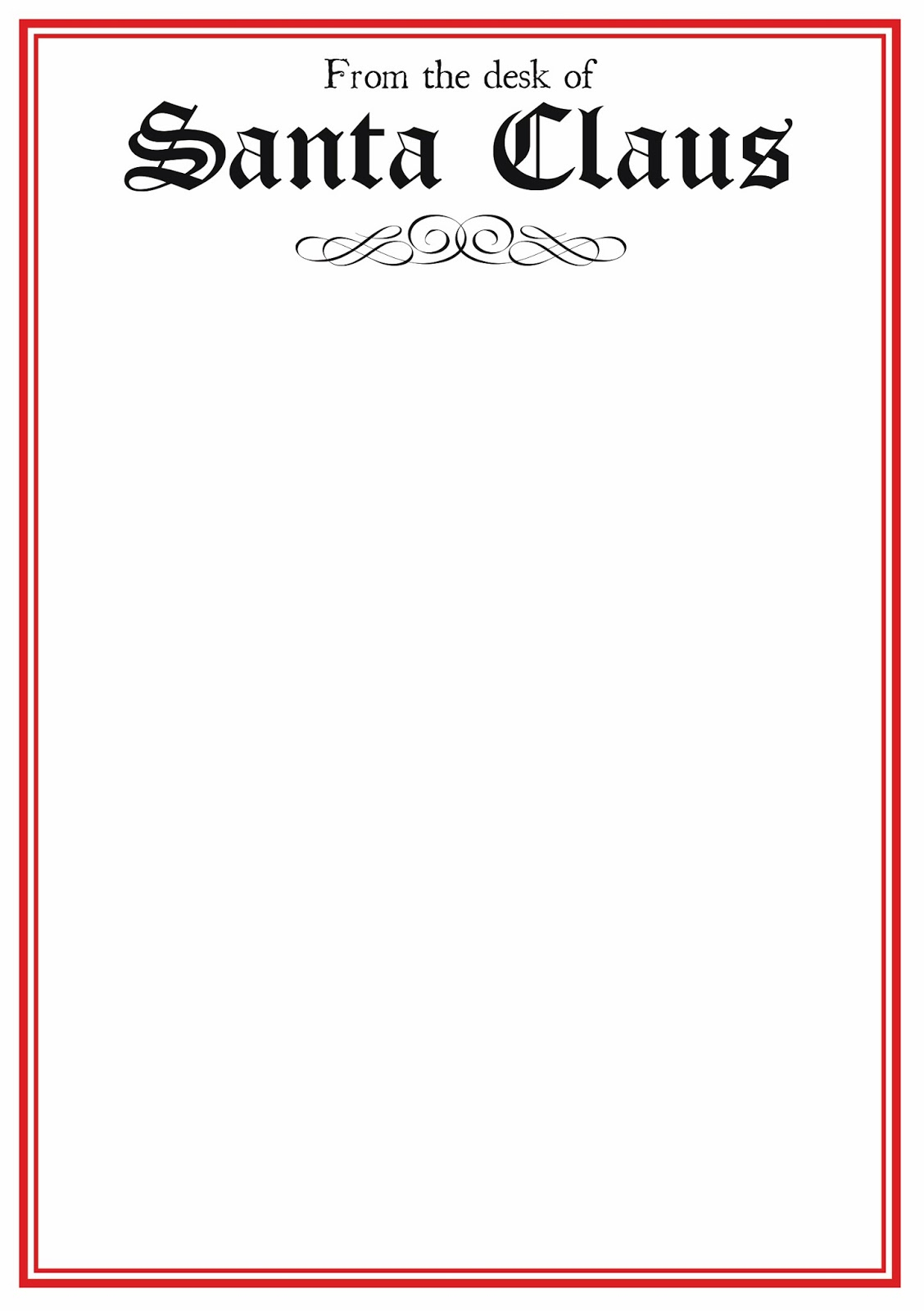 Free Printable Letter From Santa Word Template Samples | Letter - Free Printable Letter From Santa Template