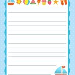 Free Printable Letter Paper | Printables To Go | Pinterest   Free Printable Writing Paper For Adults