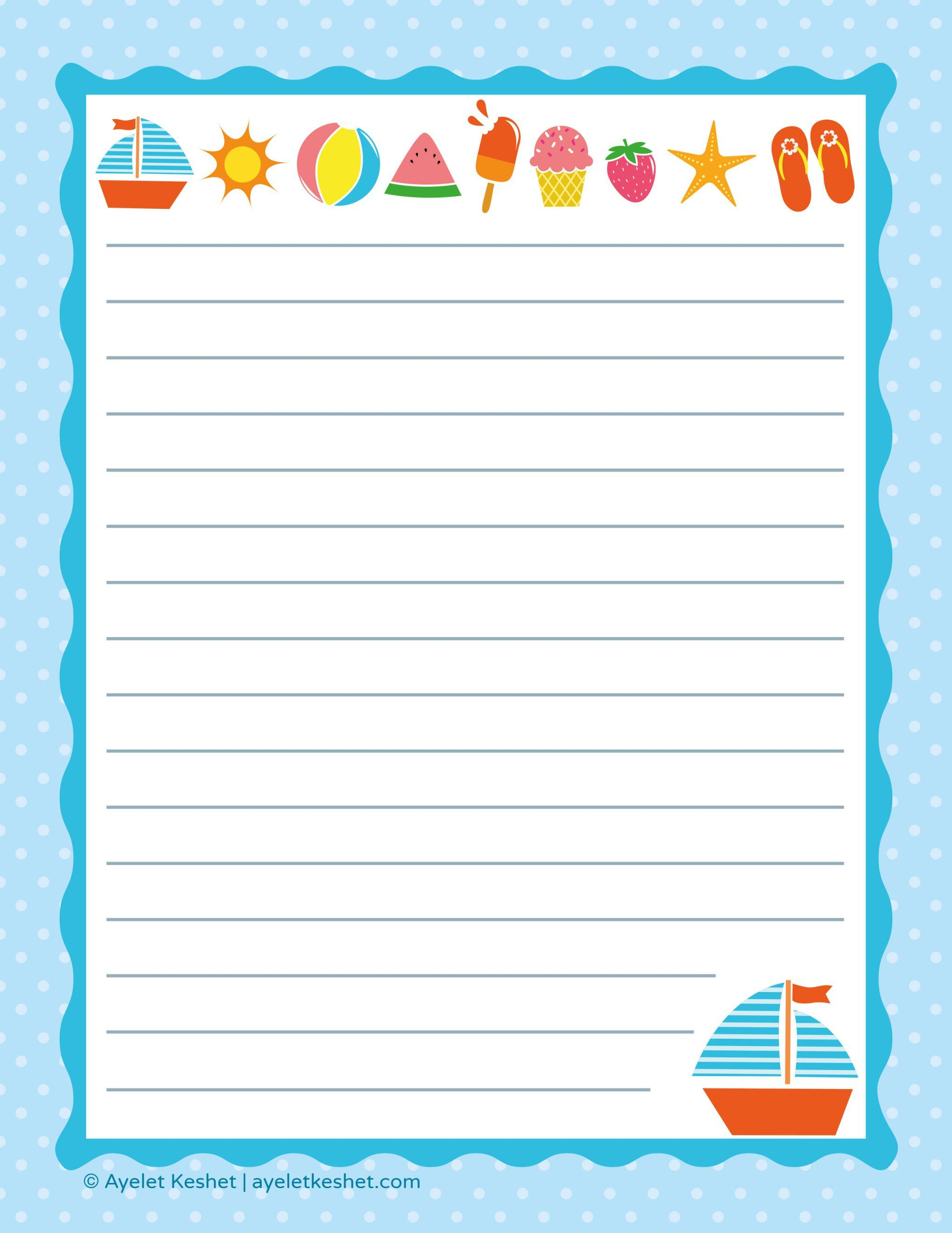 Free Printable Letter Paper | Printables To Go | Pinterest - Free Printable Writing Paper