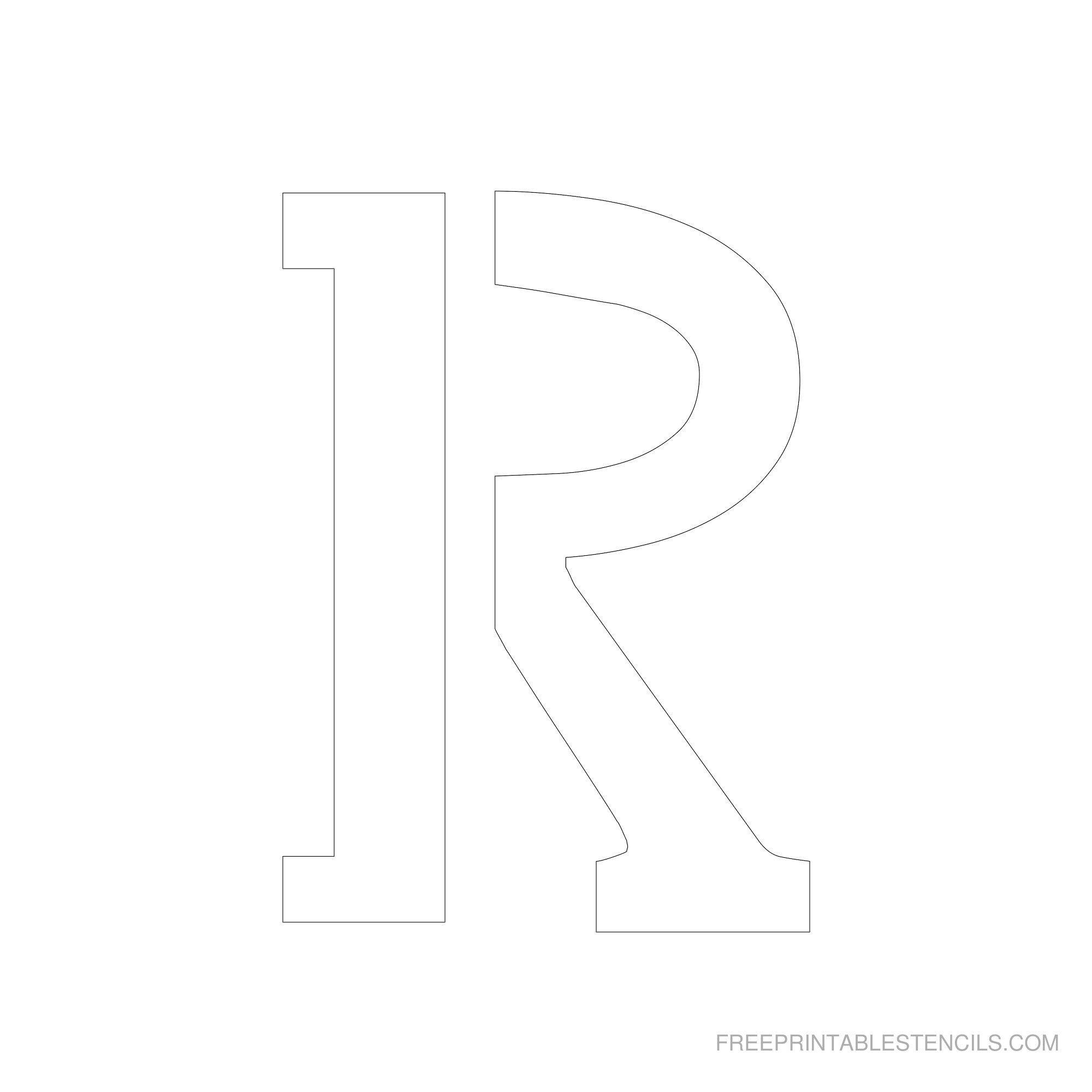 Free Printable Letter Stencils | Free Printable 6 Inch Alphabet - One Inch Stencils Printable Free