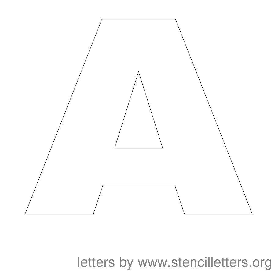 Free Printable Letter Stencils | Stencil Letters 12 Inch Uppercase - Free Printable 10 Inch Letter Stencils