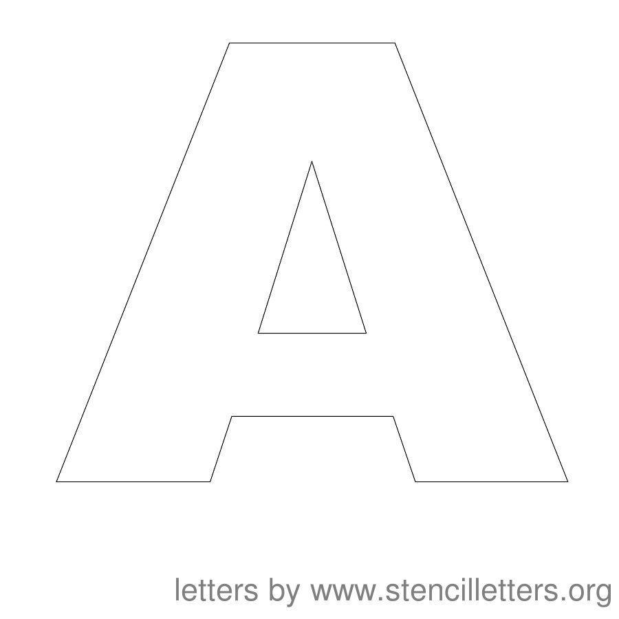Free Printable Letter Stencils | Stencil Letters 12 Inch Uppercase - Free Printable 8 Inch Letters